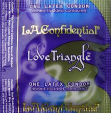 L.A. CONFIDENTAL LOVE TRIANGLE 12PK LATEX CONDOMS