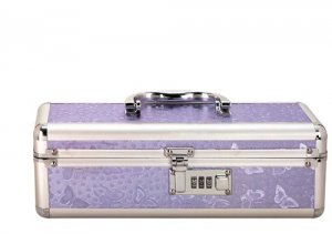 LOCKABLE VIBRATOR CASE PURPLE SMALL