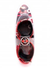 (WD) RESTRAINTS ANKLE BIOTHANE BLACK & RED