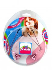 (WD) FRESH NIPPLE CLAMPS W/BEA BELLS PINK