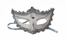 MASK W/TIES SILVER