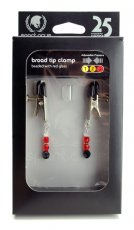 BROAD TIP CLAMP W/RED BEADS
