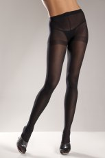 OPAQUE NYLON PANTYHOSE BLACK