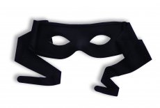 MASKED MAN W/TIES BLACK