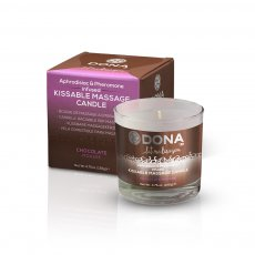 DONA KISSABLE MASSAGE CANDLE CHOCOLATE MOUSSE 4.75 OZ