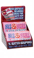 HIS & HERS XRATED COUPONS DISPLAY 36PCS