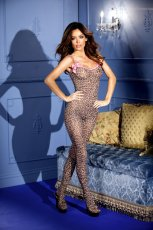 BODYSTOCKING LEOPARD PRINT W/BOWS