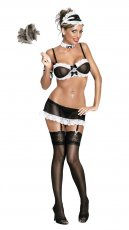 FRENCH MAID BLACK LARGE (CHEAP THRILLS)