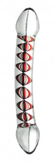 PRISMS AJNA TWIN END GLASS DILDO