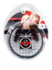 NIPPLE CLAMPS CRISS CROSS W/CHAIN BLACK