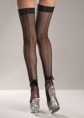 LYCRA STAY UP FISHNET THIGH HIGH BLACK