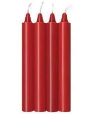 THE 9'S MAKE ME MELT SENSUAL WARM-DRIP CANDLES 4PK RED
