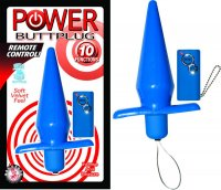 POWER BUTTPLUG REMOTE CONTROL BLUE