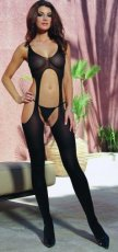 MADRID SUSPENDER BODYSTOCKING BLACK OS