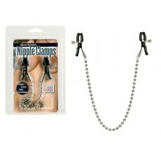 NIPPLE PLAY NIPPLE CLAMPS SILVER BEADED