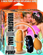 VIBRATING THROBBING ANAL BALLOON PUMP FLESH