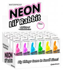 NEON LUV TOUCH LIL RABBITS 24PC DISPLAY