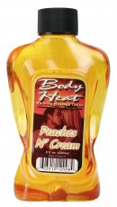 BODY HEAT WARMING MASSAGE LOTION PEACHES/CREAM