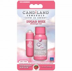 CANDILAND SUGAR BUZZ MASSAGE SET STRAWBERRY BON BON