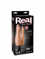 REAL FEEL DELUXE #8 FLESH 7.5IN DOUBLE PENETRATOR