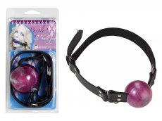 2IN PURPL BALL GAG W/D RINGS
