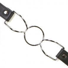 RING GAG LEATHER AND STEEL