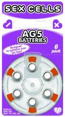 SEX CELLS AG5 BATTERIES 6 PACK