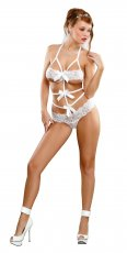 LACE BOW TEDDY WHITE S/M (BRIDAL BANDS OF LACE)