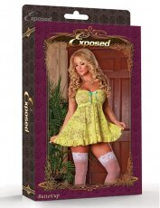 BABY DOLL & PANTY SET YELLOW MEDIUM