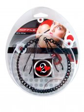 H2H NIPPLE CLAMPS TWEEZER W/CHAIN BLACK