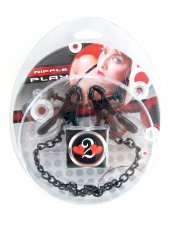 H2H NIPPLE CLAMPS PLIER W/CHAIN BLACK