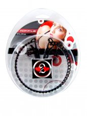 H2H NIPPLE CLAMPS ALLIGATOR W/CHAIN BLACK