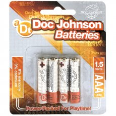 DOC JOHNSON BATTERIES AAA 4 PACK CD
