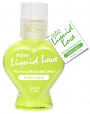 MINI LIQUID LOVE WARMING MASSAGE LOTION 1.25 OZ GREEN