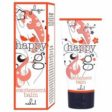 HAPPY G EXCITEMENT BALM NAKED FRAGRANCE FREE .5 OZ