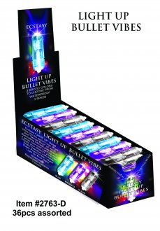 ECSTASY LIGHT UP BULLET ASST. COLORS 36PC
