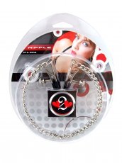 H2H NIPPLE CLAMPS ALLIGATOR W/CHAIN CHROME