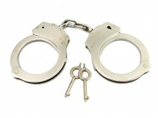 (WD) H2H HANDCUFFS DOUBLE LOCK NICKEL