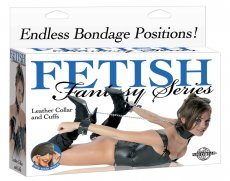 FETISH FANTASY LEATHER COLLAR & CUFFS