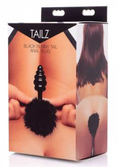 TAILZ BLACK BUNNY TAIL ANAL PLUG(out April)