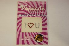 VAJAZZLE I LOVE YOU RED/CLEAR (NET)