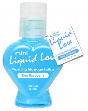 MINI LIQUID LOVE WARMING MASSAGE LOTION 1.25 OZ BLUE R