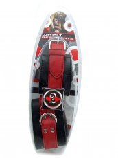 (WD) H2H RESTRAINT WRIST SOFT LEATHER RED/BLACK