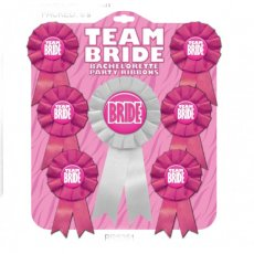 BACHELORETTE TEAM BRIDE RIBBON SET