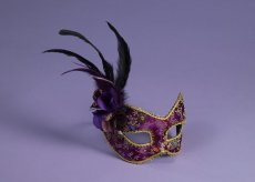 MASK PURPLE W/EYEGLASS FRAME