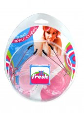 (WD) FRESH NIPPLE CLAMPS W/BEA HOOP PINK