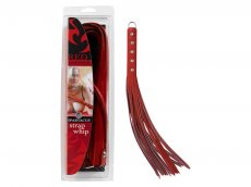 LEATHER RED 20IN STRAP WHIP
