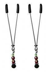 SEXPERIMENTS NIPPLE CLIPS RUBY BLACK
