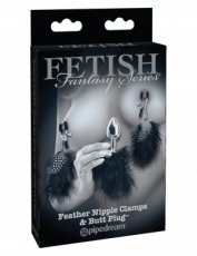 FETISH FANTASY FEATHER NIPPLE CLAMPS & ANAL PLUG