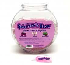 SWEETEN D' BLOW FISHBOWL ASST 72PC